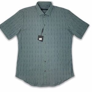Zachary Prell Gingham Short Sleeve Button Down